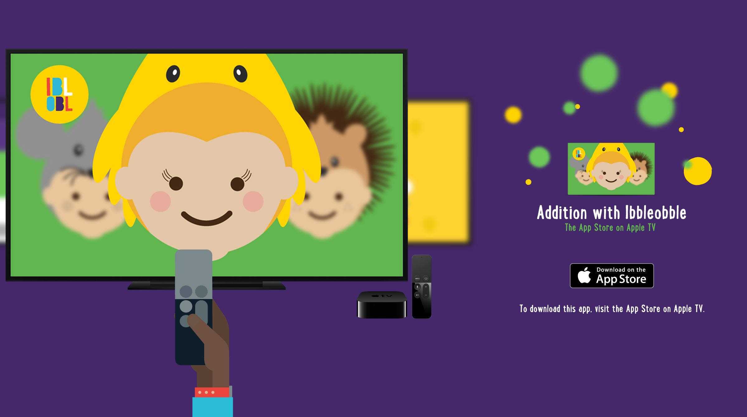 Ibbleobble educational Apps on Apple TV | Ibbleobble