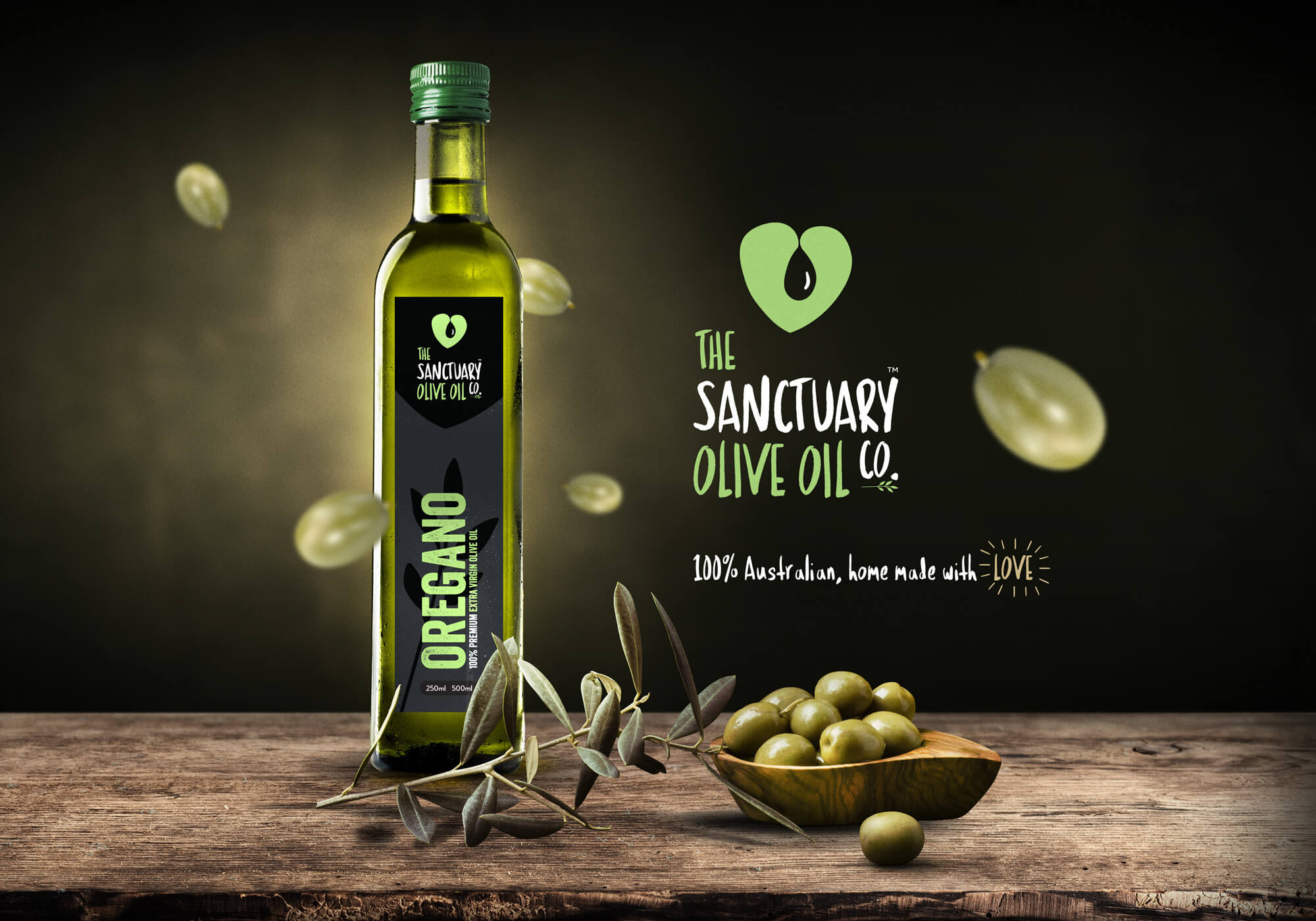 The Sanctuary Olive Oil Co. label