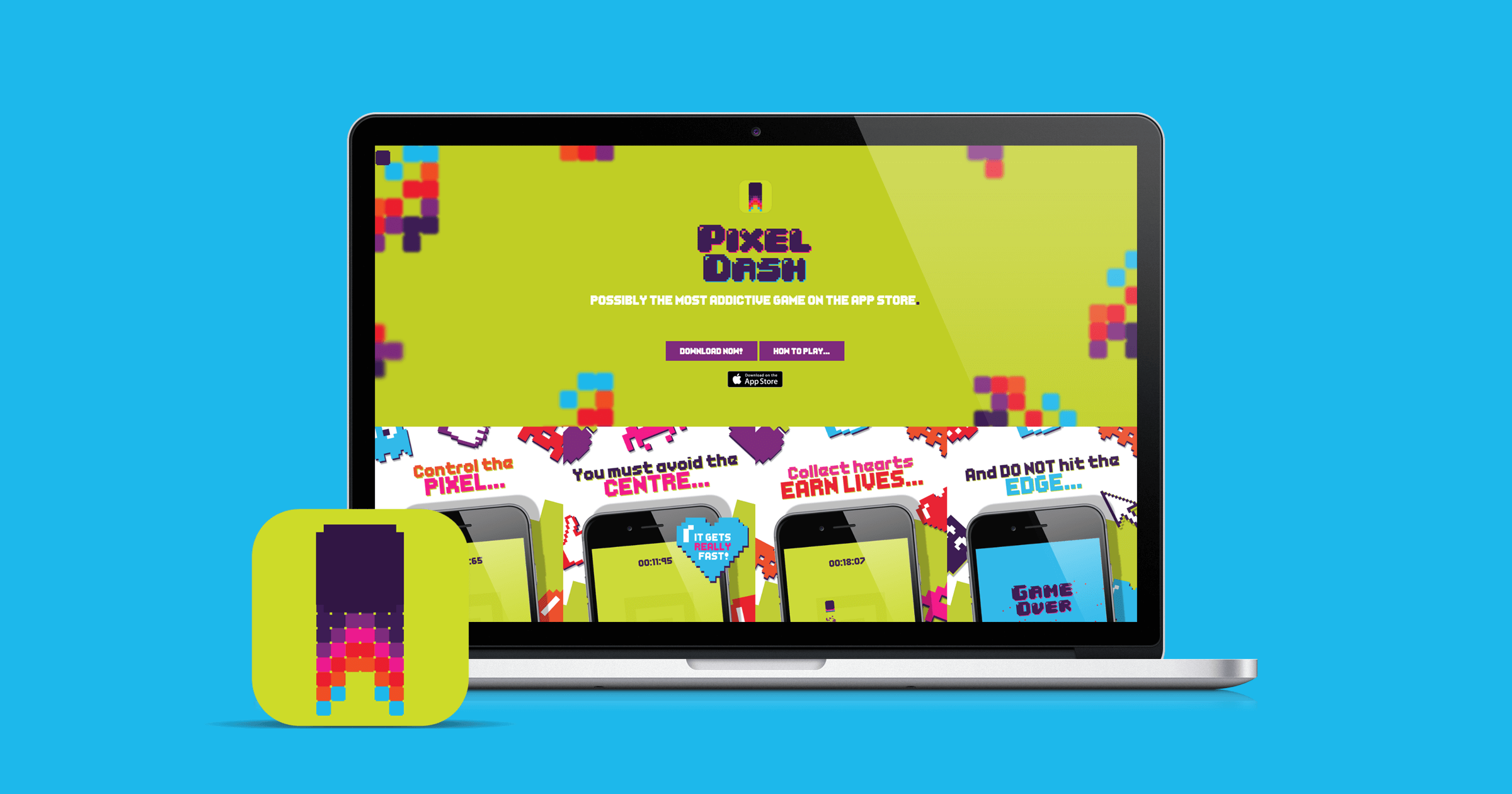 Pixel Dash website