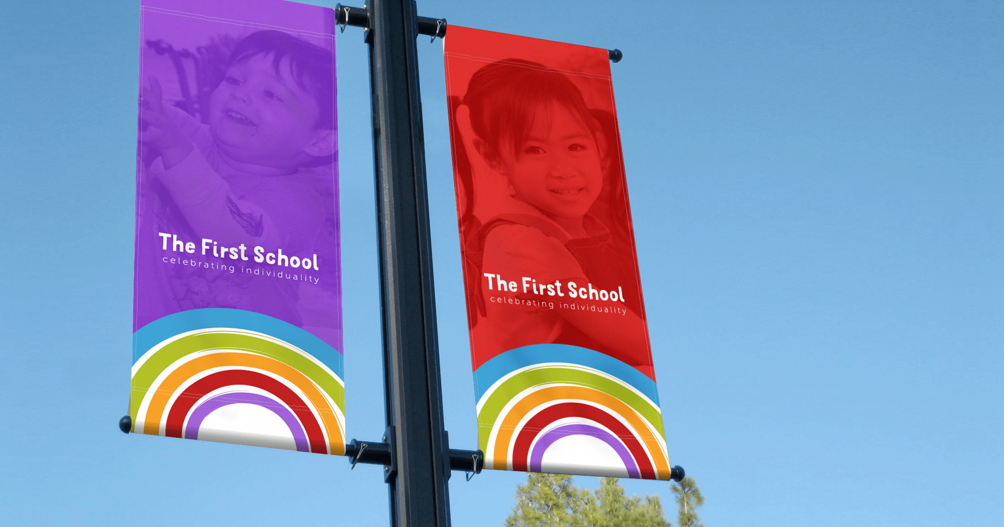 The First School flags