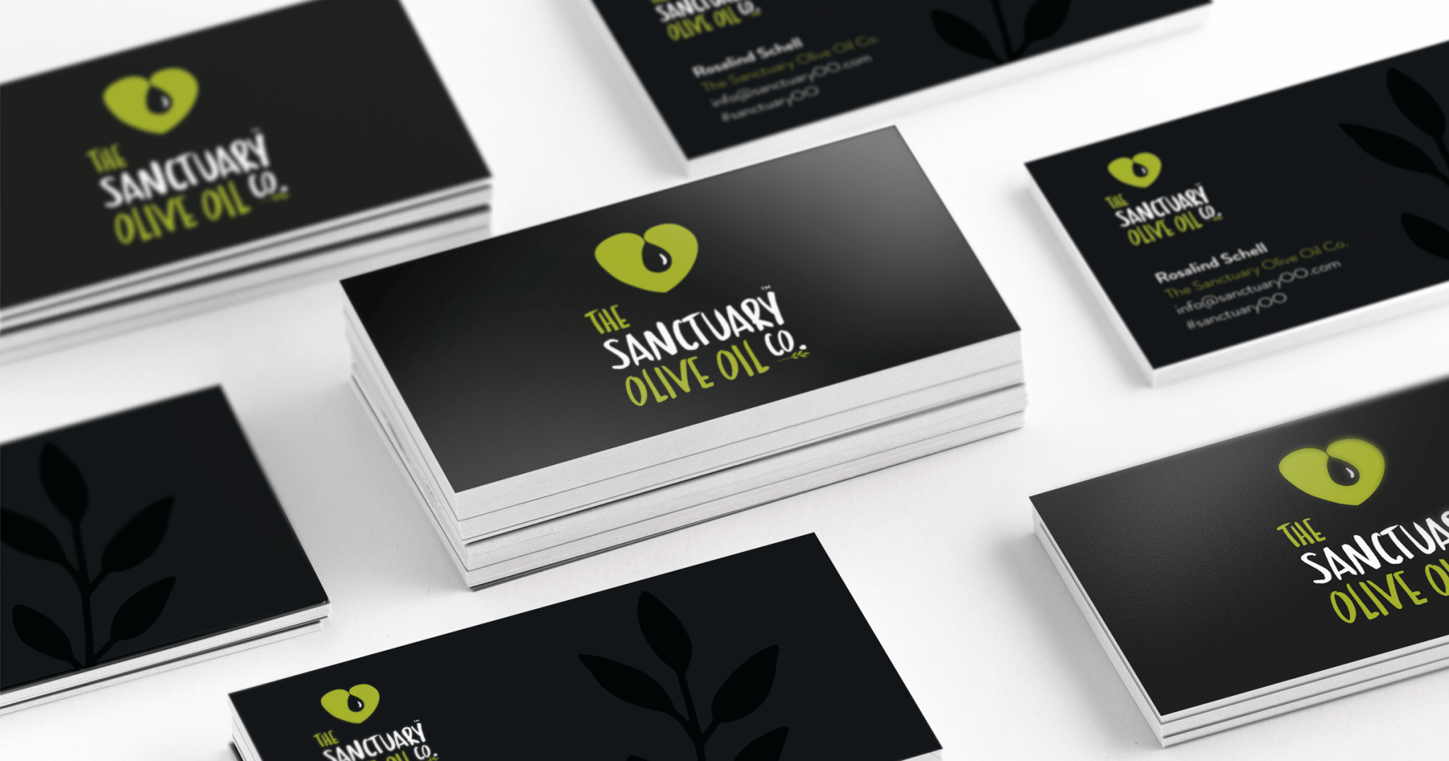The Sanctuary Olive Oil Co. business cards