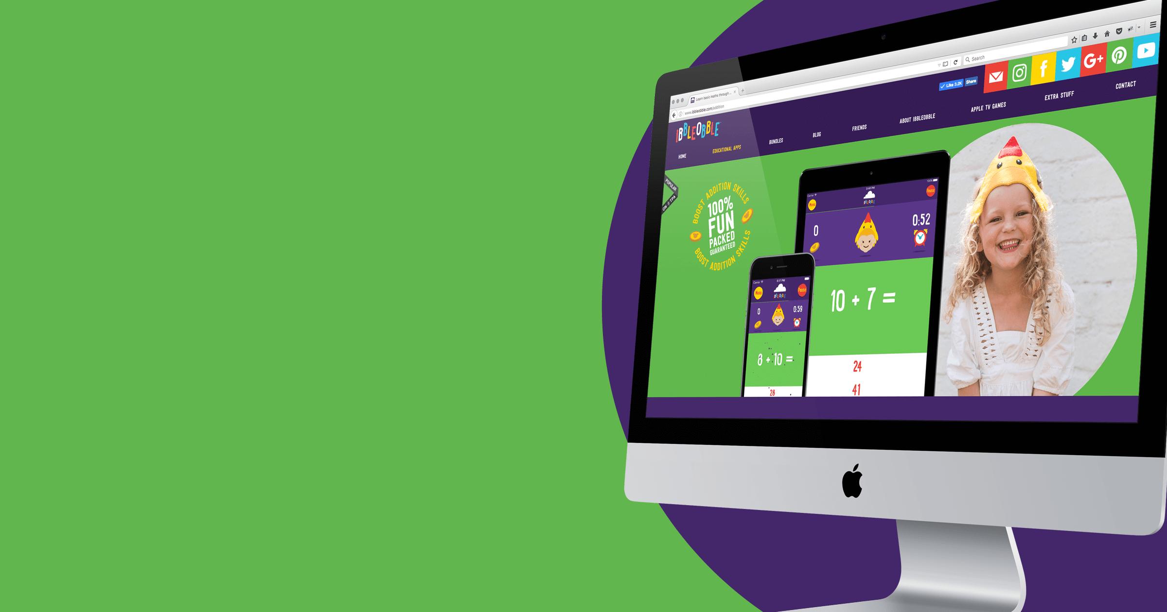 Ibbleobble Award-winning website